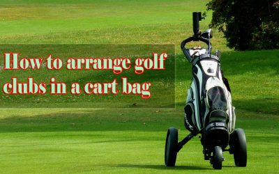 How to arrange golf clubs in a cart bag